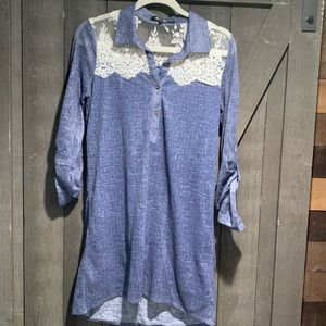 Chambray style dress